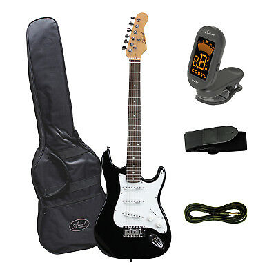 Artist ST34 Black 3/4 Size Electric Guitar Plus Accessories - New