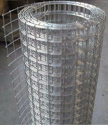 Galvanized Welded Wire Mesh roll 1.2m*5m 2'*2' Thickness:2mm,$15