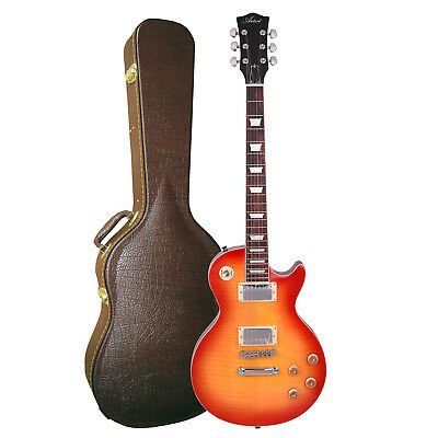 Artist LP59 Deluxe Cherry Burst Electric Guitar + Brown Case - New