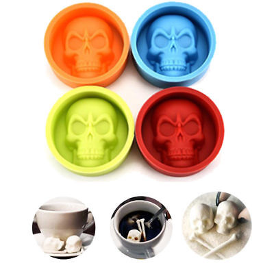 Halloween Skull Silicone Ice Cube Mold Muffin Cake Chocolate Pudding Mould Tool