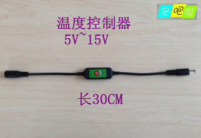 1PC 5~15V DC 5.5 * 2.1MM  5 files adjustable temperature controller switch