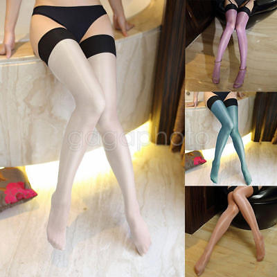 Bas de soie Bas Cuisse Haute tenue Shine Multi-color Silk Stockings