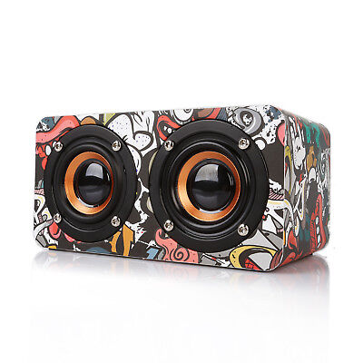 Radioddity Wooden Dual Loud Mini Speaker Bluetoorh 10W Bass Bumping US for yoga