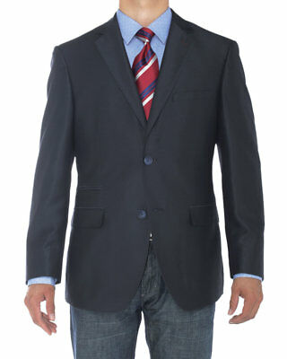 Luciano Natazzi Mens Two Button Modern Fit Suit Jacket Notch Lapel Blazer Coat