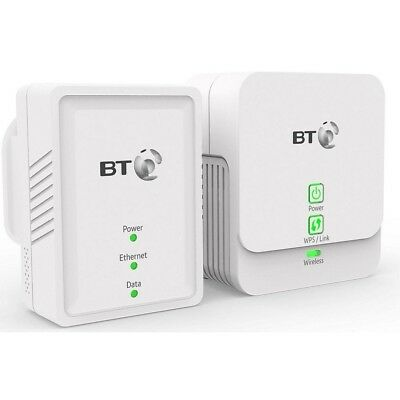 BT Essentials Wi-Fi Powerline 500 kit White Works with all broadband providers