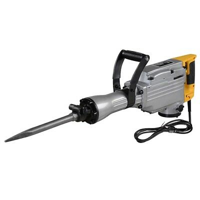 2200W 1600BPM Double Insulated Electric Demolition Jack Hammer 3 Chisels Breaker