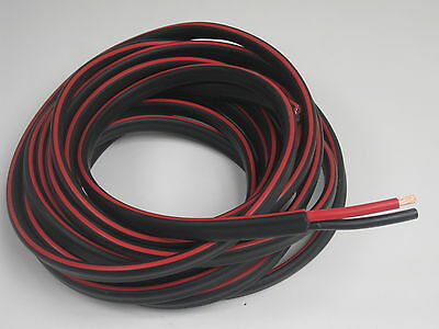 12m 8B&S DUAL BATTERY CABLE 8 B S Twin 2 Core Auto Metre B&S 8BS BS Wire 12V 4x4