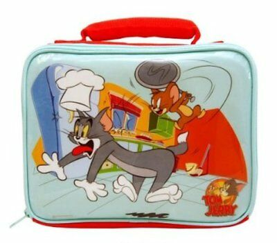 VOGUE TOM AND JERRY RED/BLUE School TRAVEL Picnic Lunch bag Gift Ideal NEW