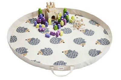 3 Sprouts Play Mat Bag- Hedgehogs | Portable Play mat & Storage Bag in ONE!