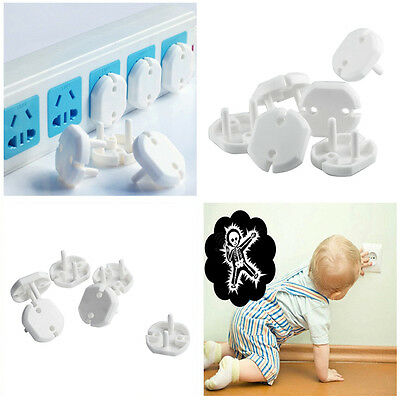 10X/bag Child Guard Against Electric Shock Safety Protector Socket Cover Cap FT