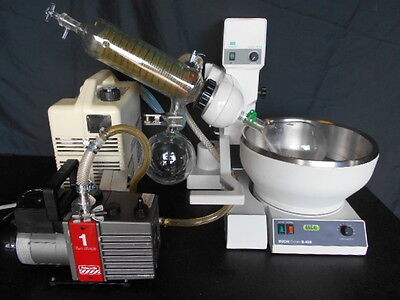 USED Buchi Rotovap Rotary Evaporator WITH FREE Ref. Circulator AND Vacuum Pump