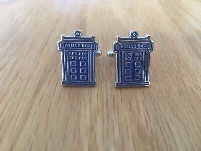 Superhero Doctor WHo Novelty cufflinks*made of solid brass*1st class postage