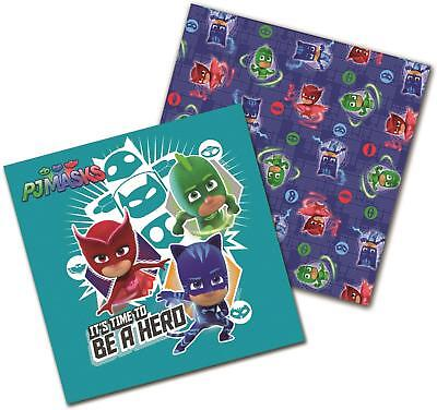 Pj Masks Pack Of 16 Napkins Party 2 Ply Tableware Owlette Gekko Catboy New Gift