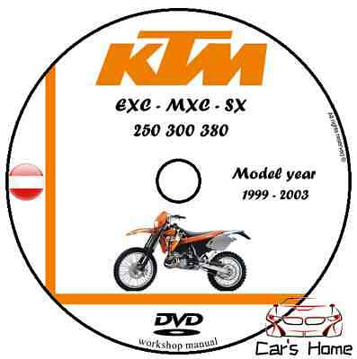MANUALE OFFICINA KTM MXC - EXC - SX my 99 - 03 WORKSHOP MANUAL DVD