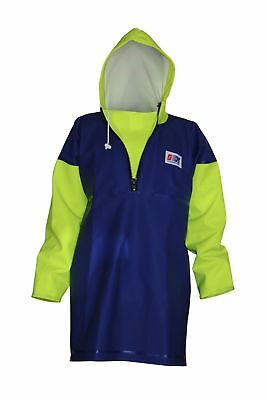 Stormline Fishing Oilskins Smock, PVC Waterproof Jacket, Heavy Duty, Size Small