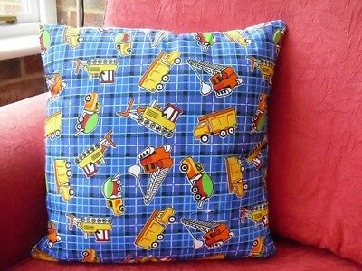 Hand Stitched Lorry Cushion Cover