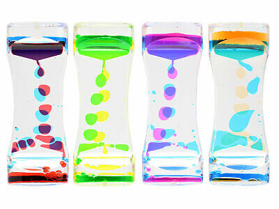 Liquid Bubble Motion Drop Timer Style Colourful Hourglass Fidget SENsory