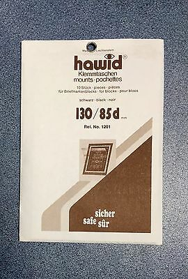 ⭐️Hawid Stamp Block 130/85d mm -Black Mount ~ONLY £6.40! FREE DELIVERY!⭐️⭐️⭐️