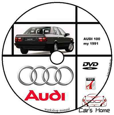 Manuale Officina Audi 100 My 1991 Workshop Manual Service Dvd