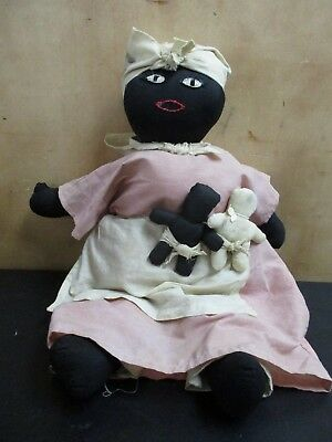 Vintage Signed 1987 Betty Hudson Black Americana Doll Mammy Willie Fay + Kids