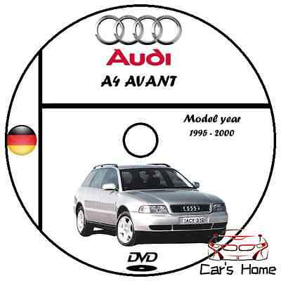 Manuale Officina Audi A4 Avant My 1995 - 2000 Workshop Manual Service Dvd