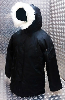 US N3B Military Style ECW Snorkel Parka Black MOD/Scooter/Bikers - All Sizes NEW