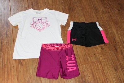 girls under armour lot ~ volleyball youth large