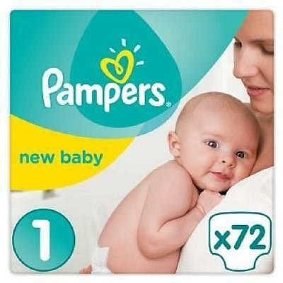 PAMPERS New Baby - Taille 1 - 2 a 5Kg - 72 couches