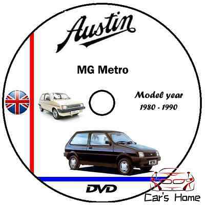 Manuale Officina Austin Mg Metro My 1980 - 1990 Workshop Manual Service Dvd