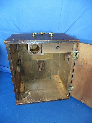 Antiker Mikroskop Kasten ca. 1875 , microscope box antique , ancien