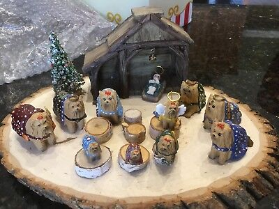 HEAVENS PAWS 2007 21 Piece YORKSHIRE TERRIER Yorkie Nativity Set CHRISTMAS