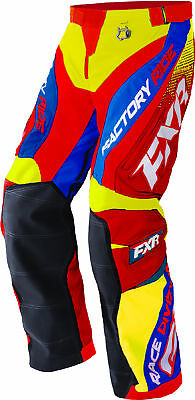FXR Hi-Vis Yellow/Nuke Red/Royal Blue Cold Cross Race Ready Snow Shell Pants