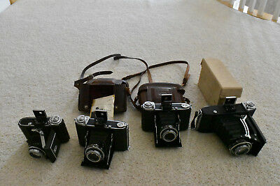 Zeiss Ikon - Four Nettar Cameras for sale - 1 6x4.5, 2 6x6 and 1 6x9