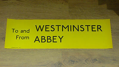 London Transport Routemaster Bus Slipboard Poster - TO & FROM WESTMINSTER ABBEY