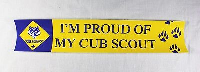 I'm Proud of My Cub Scout Bumper Sticker Webelos Wolf Bear Tiger Lot of 5 each