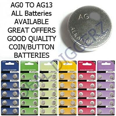 10 x AGO AG1 AG2 AG3 AG4 AG5 AG6 AG7 AG8 AG9 AG10 AG11 AG12 AG13 Alkaline Cell