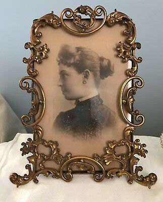 Victorian Gilded Brass Picture Frame