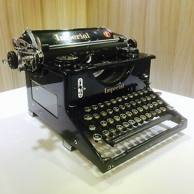 1930s Imperial Model 50 Typewriter, Working, Stunning, New Ribbon & Cover