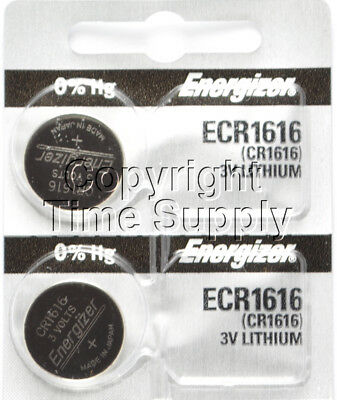 2 pc 1616 Energizer Watch Batteries CR1616 CR 1616 Lithium Battery 0% HG