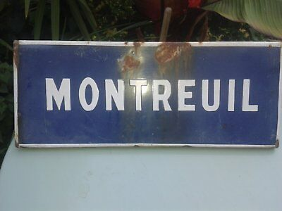 French enamel place name sign - Montreuil