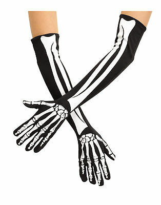 Day Of The Dead Sugar Skeleton Opera Gloves Adult Halloween Costume Accessory