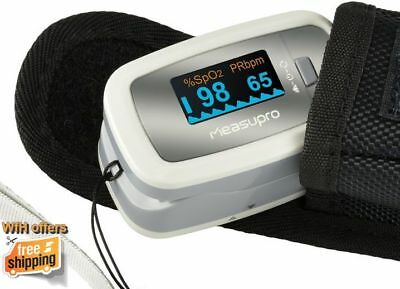Finger Pulse Reader Oximeter Sp02 Blood Oxygen Portable Meter Monitor With Case