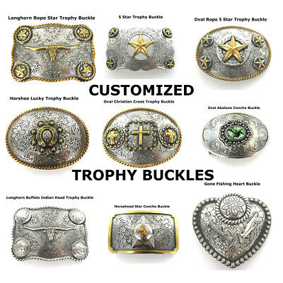 Customized Western Trophy Belt Buckles For Leather Cowboy Rodeo Selection New