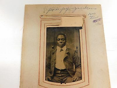 African American Tin Type Photo Black Man in Suit Family photo