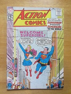 ACTION COMICS #285 vg- Supergirl's existance revealed  DC SilverAge 1 bk lot