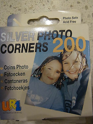 UR1 Photo Corners Silver 250 Pack