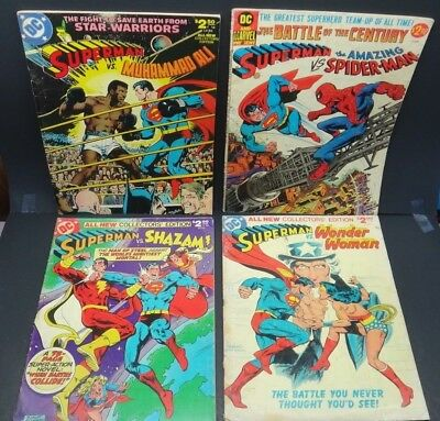 L@@K Vintage DC Superman Comic Book lot X 4 GIANT Collector Editions (1976-78)