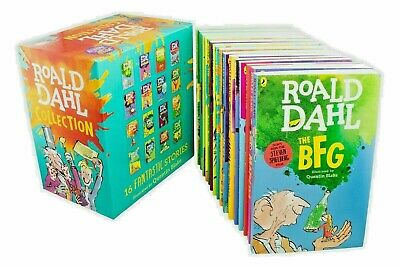Roald Dahl Collection Phizz Whizzing 15 Classic Story Books Box Set Children NEW
