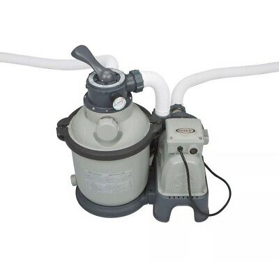 Above Ground Pool Sand Filter Pump Set Intex 1200 GPH Krystal Clear 28643EG
