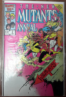 NEW MUTANTS ANNUAL #2 1986 MARVEL 1st US APPEARANCE PSYLOCKE KEY ISSUE